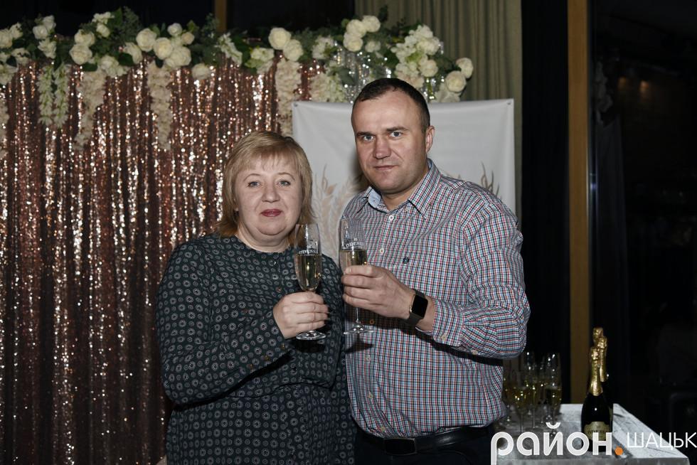 Керівник напрямку ТОВ «Полісся-Трейд» Ірина Демчук та Петро Нестерук