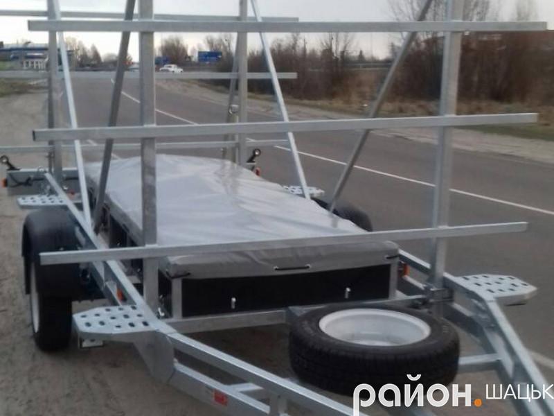 В Шацьку ДЮСШ придбали причіп для перевезення каное, байдарок