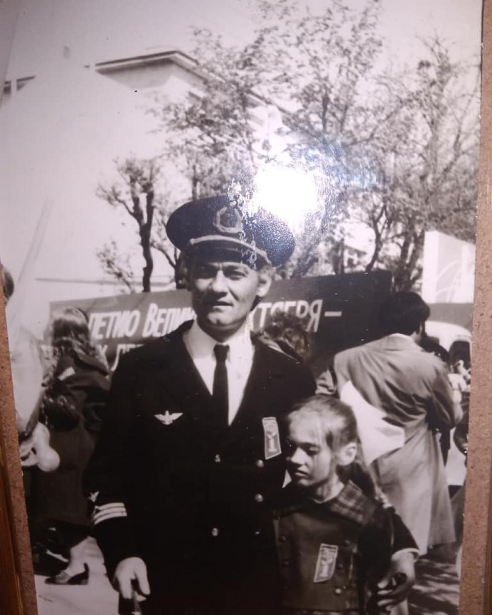 Перший капітан теплохода Віталій Волков