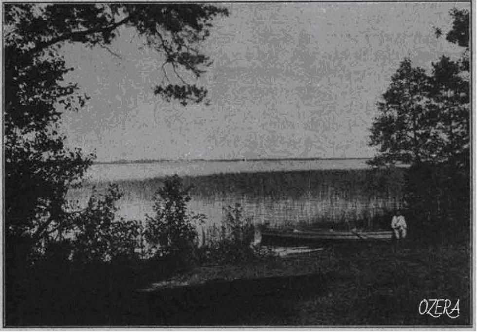 Озеро Світязь (затока Бужня)  Фотограф Болеслав Данейко, 1911 рік.