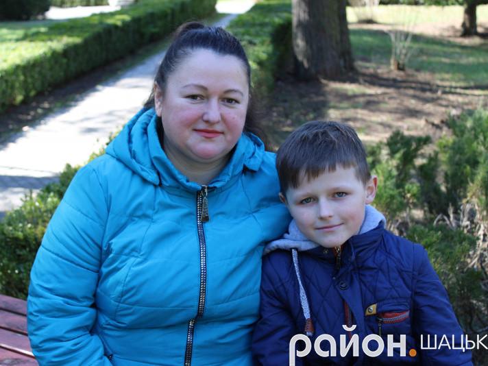 Наталія Мазурик з сином Антоном