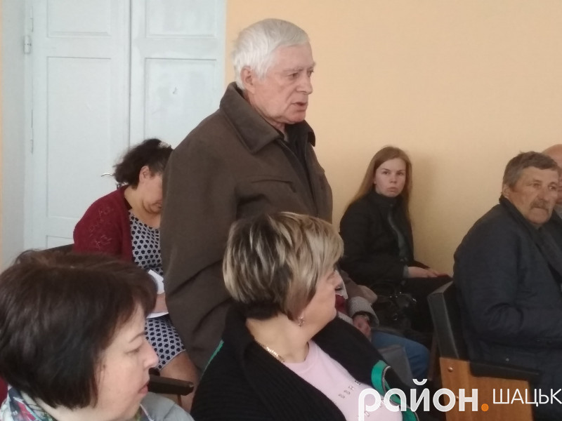 Іван Терета на сесії Шацької ОТГ