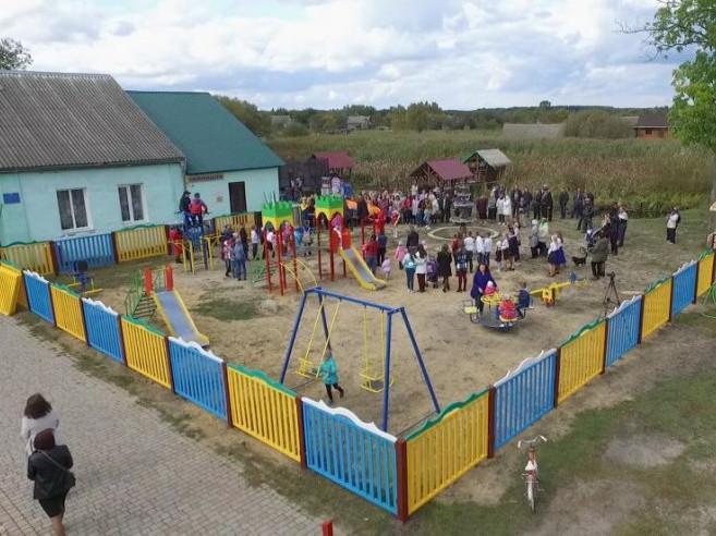 Урочисте відкриття майданчика відбулося під час святкування Дня села