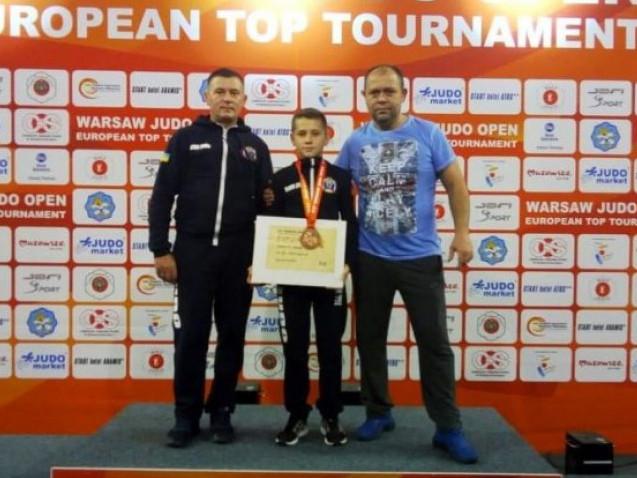 Назар Горніч на одному з турнірів з дзюдо у Варшаві