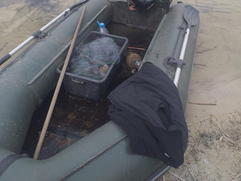 На Пулемецькому рибоохоронний патруль виявив 500 метрів браконьєрських сіток