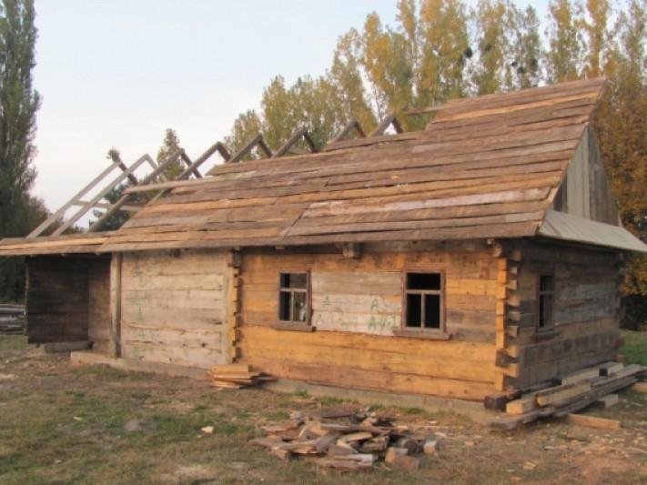 Хата з села Острів'я - один з найстаріших архітектурних об'єктів України
