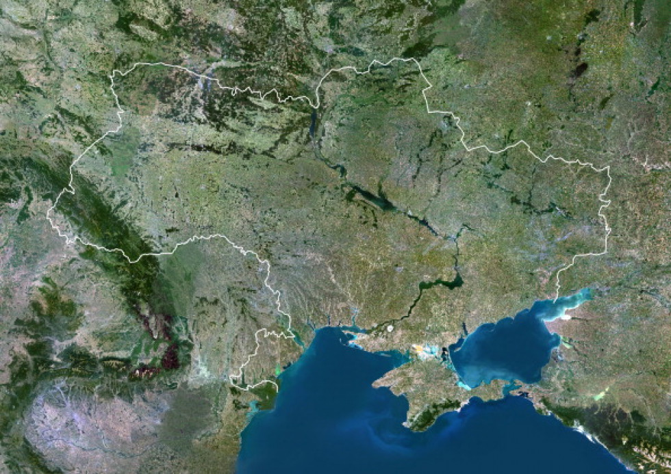 Україна з космосу