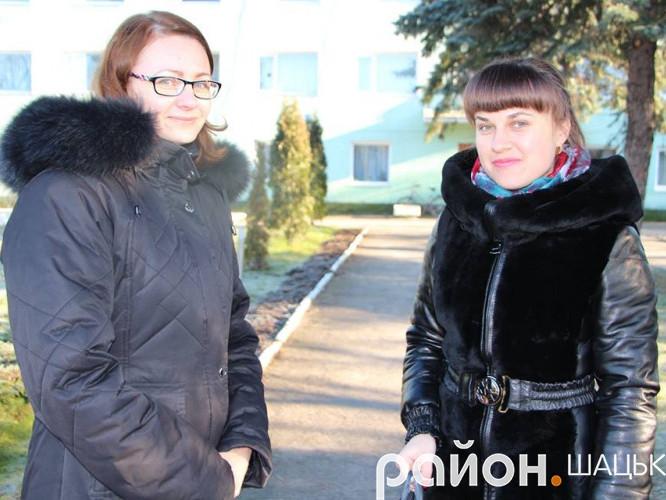 Журналіст видання Район.Шацьк із переможцем конкурсу Лілією Бакун