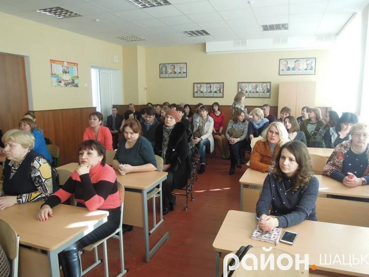 Збори відбулися в класі Шацької школи-гімназії