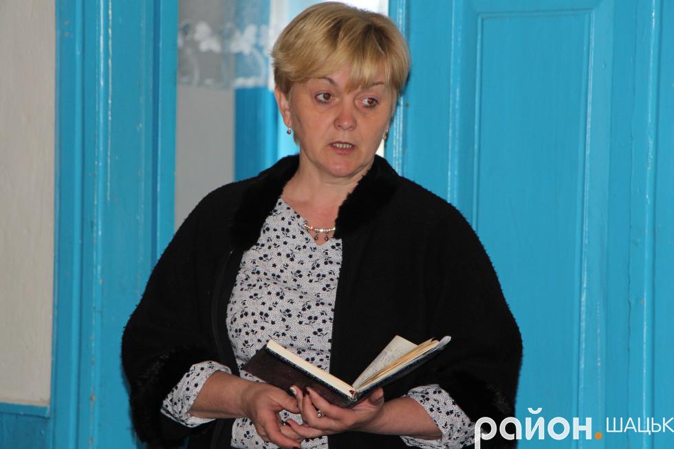 Секретар Шацької селищної ради Людмила Цевух