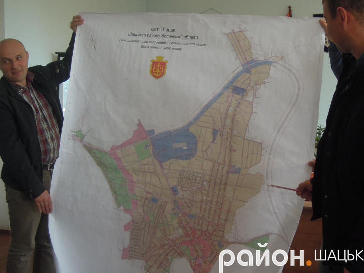 Ескіз генерального плану Шацька