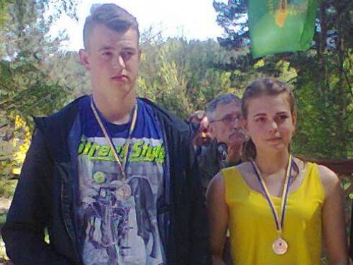 Переможці змагань Ярослав та Анастасія
