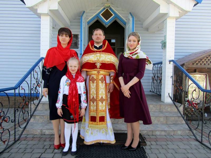 Пульмівський священик Олександр Черевко зі своєю родиною