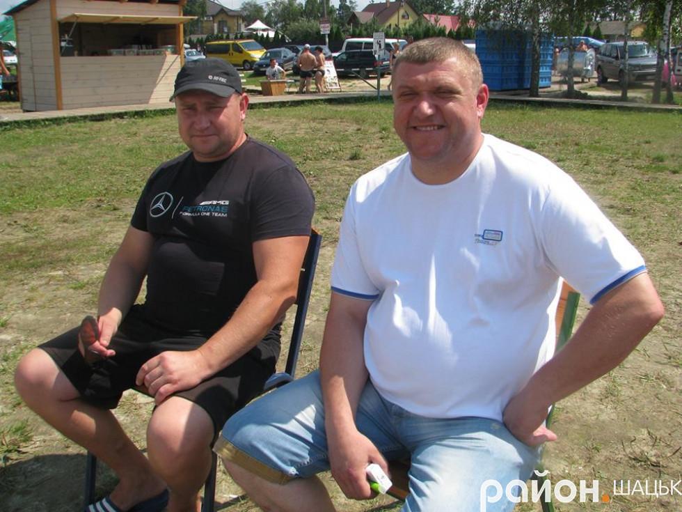 Активні вболівальники Ігор Самолюк і Василь Голядинець