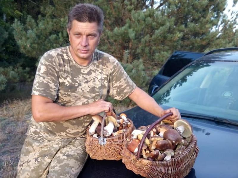 Олександр Лончук з грибним уловом
