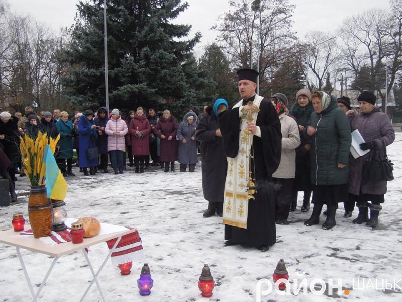 В Шацьку помолилися за жертв голодоморів в Україні