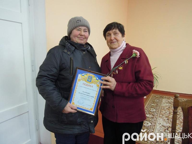 Валентині Кравченко на зборах оголосили подяку