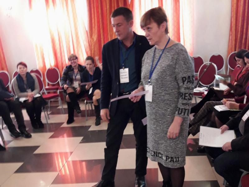 СекретарЛюдмила Цевухвзяла участь у відкритті проекту в Києві