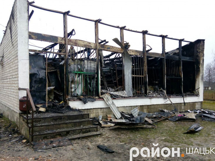 Пожежа майже повністю знищила приміщення закладу торгівлі