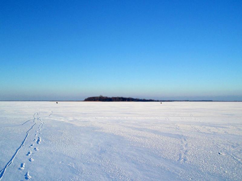 Озеро Світязь взимку