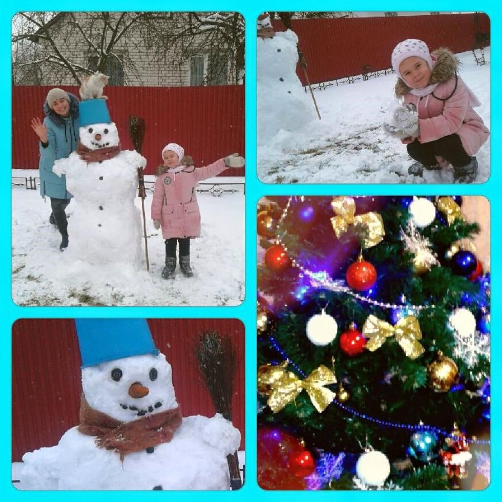 Снігові витвори Юлії Лісовської та її доньки