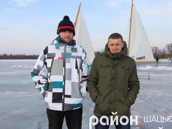 Сергій Грицюк та Володимир Кубай -шацькі активісти, які розвивають зимові види відпочинку