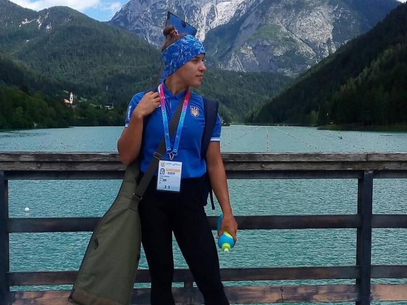 Валерія Терета на чемпіонаті Європи в Італії