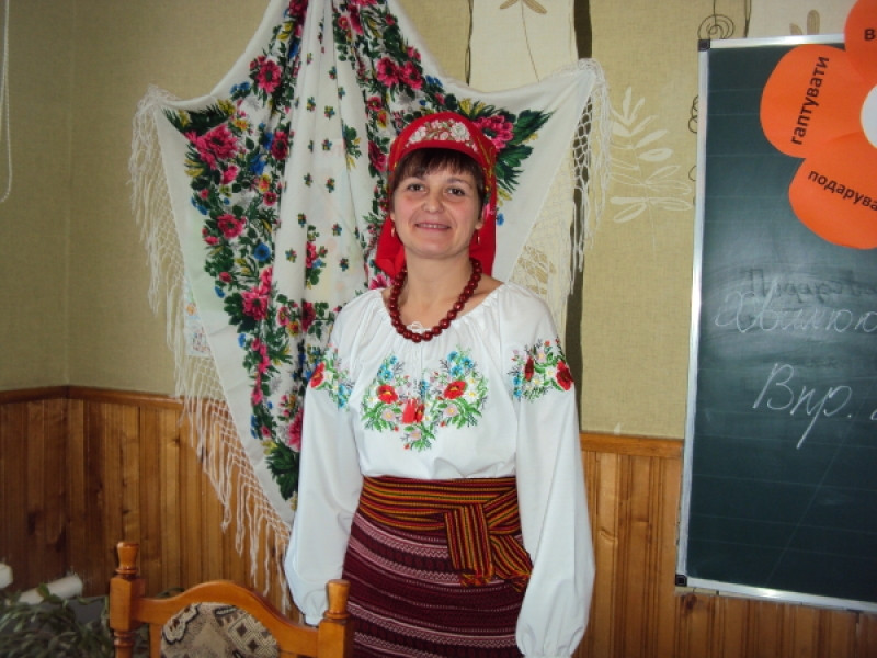Вчителька Шацької школи-гімназії Оксана Данилюк на конкурсі «Вчитель року»