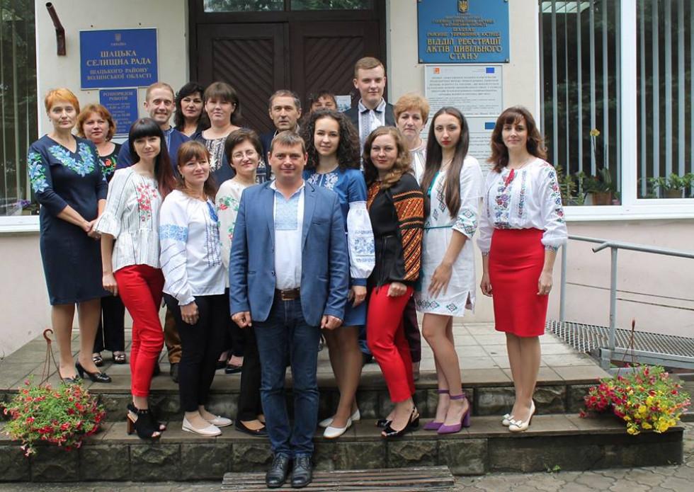 Ендрю Джадкінс разом із колективом Шацької ОТГ