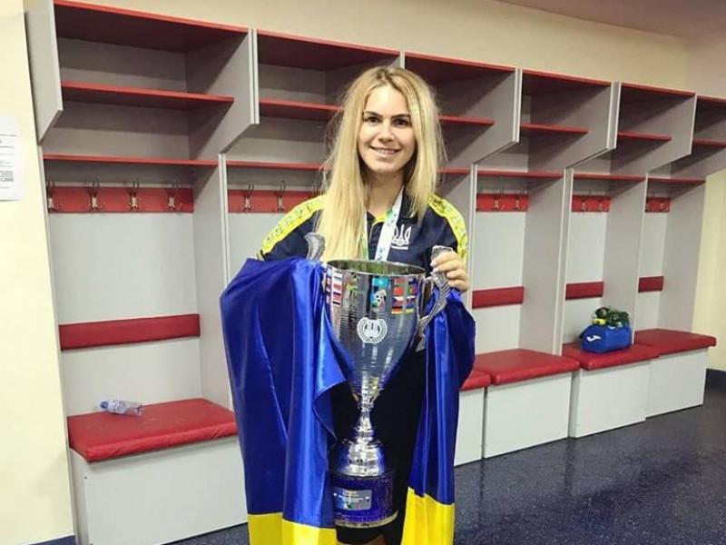 Футболістка Юлія Дударчук