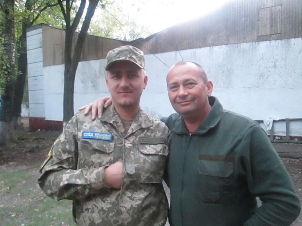 З командиром підрозділу «Світязь» В'ячеславом Монічем