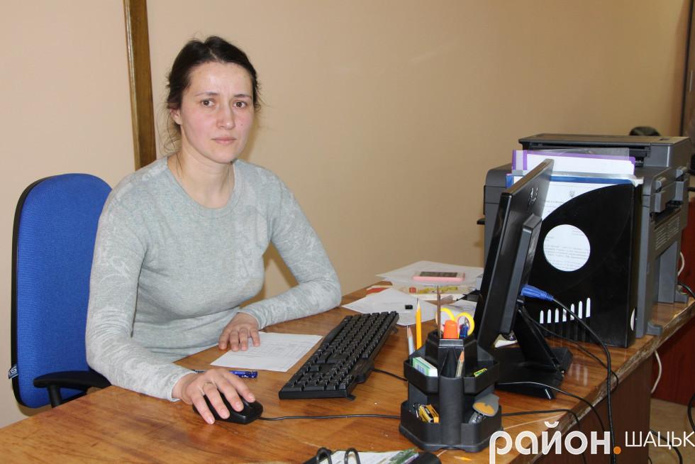 Інна Будник, начальниця відділу ЦНАП Шацької ОТГ