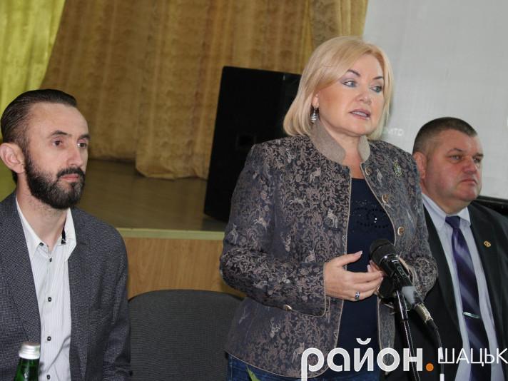 Оксана Білозір презентувала в Шацьку міжнародну програму