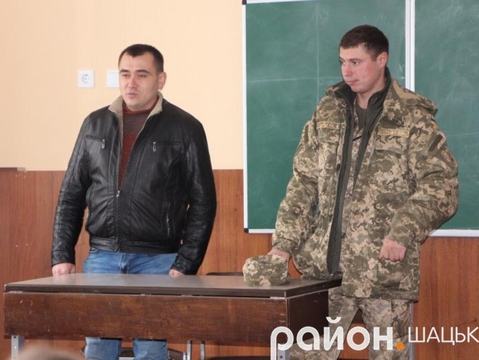 Валентин Борух та голова ГО «Ветерани АТО Шацького району» Ярослав Крат