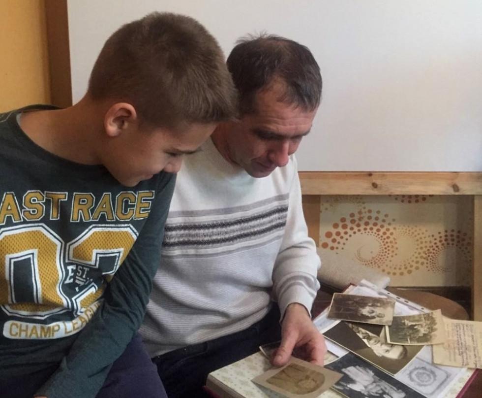 Геннадій з сином Лук'яном