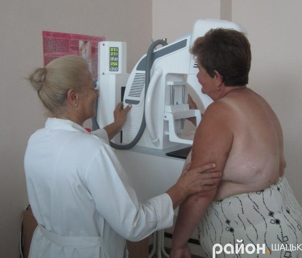 Обстеження на цифровому мамографі