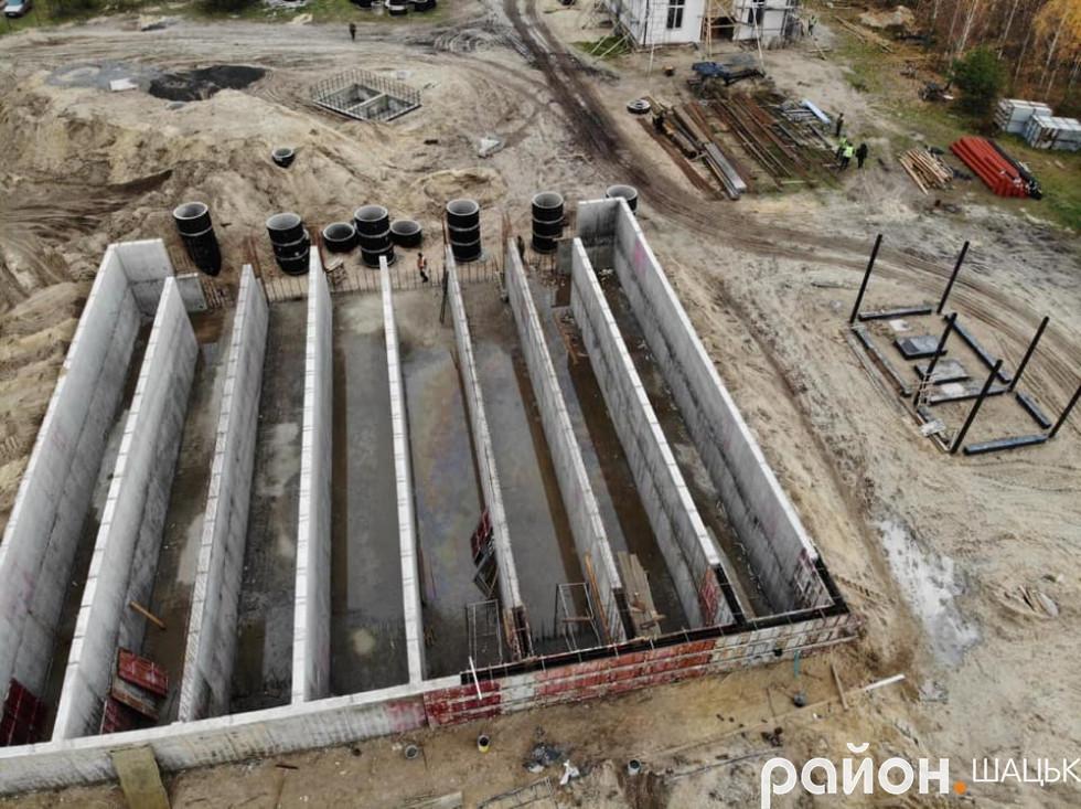 Будівництво очисних споруд у Світязі