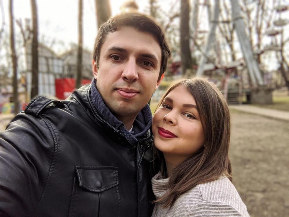 Донька Олена з чоловіком Андрієм